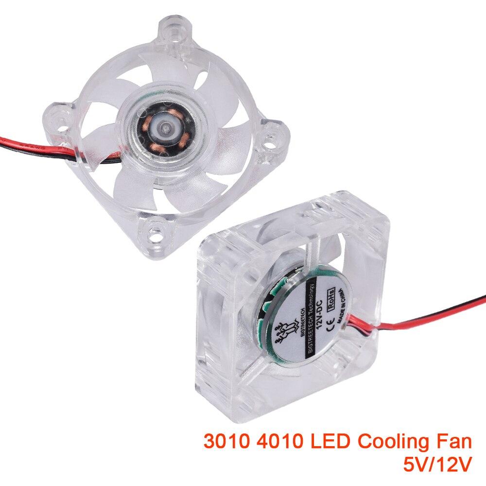 Светодиодный вентилятор охлаждения 3010 4010, Ультра тихий чехол, кулер, ПК компьютер, RGB светильник, детали 3D-принтера, контроллер, подшипник, ве...