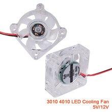 3010 4010 Led Koelventilator Ultra Stille Case Cooler Fan Pc Computer Rgb Licht 3D Printer Onderdelen Controller Lager Fan radiator