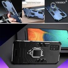 Funda lujosa A prueba de golpes para Samsung Galaxy, Funda de anillo armadura para Samsung Galaxy A51 A31 A11 A71 A 71 A 51 A 31 A 11