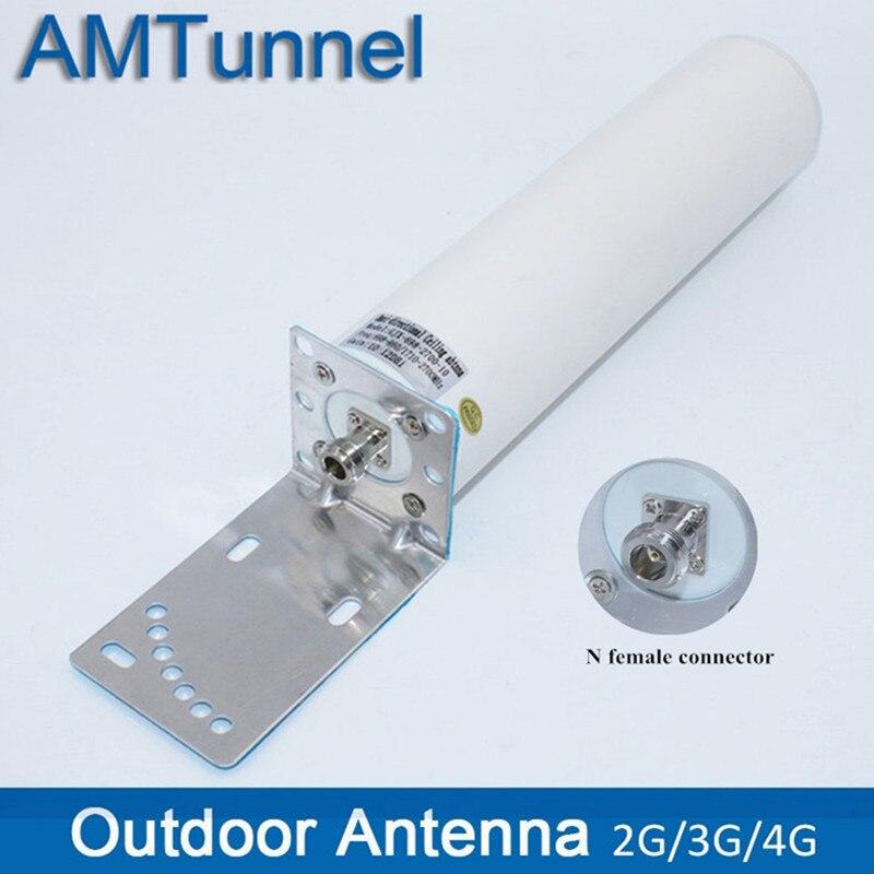 Antena exterior 4g 3g antena 12dbi gsm antena externa n fêmea ou sma macho 698 2700 mhz para o impulsionador 3g 4g roteadores