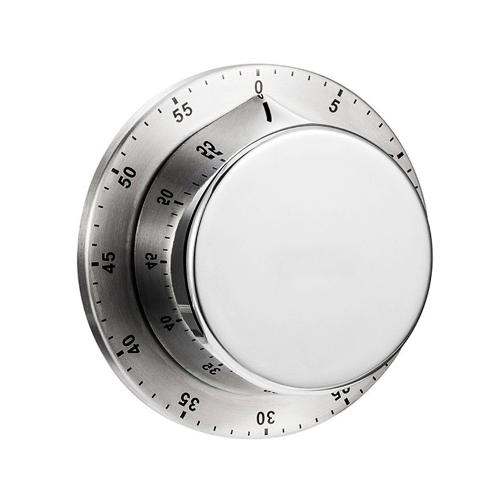 60 Minutes Kitchen Timer with Magnetic Base Kitchen Gadgets Cooking Tools Stainless Steel Kitchen Timer