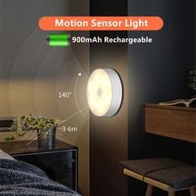 700mAh Usb Rechargeable Motion Sensor Light Round Wireless LED Puck Light Kichen Cabinet Lighting Motion Sensor Lamp Night Light