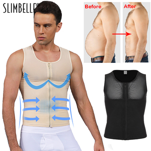 Image 1 - Mens Shapewear Bodysuit Full Body Shaper with Zipper Compression Slimming Suit Breathable Shirt Slim Mens Shapers