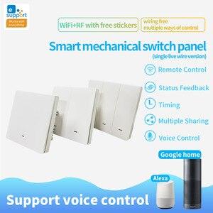 Image 2 - Lonsonho eWeLink WiFi Smart Switch RF433 UK Push Button Smart Home Automation Module Compatible Alexa Google Home Assistant