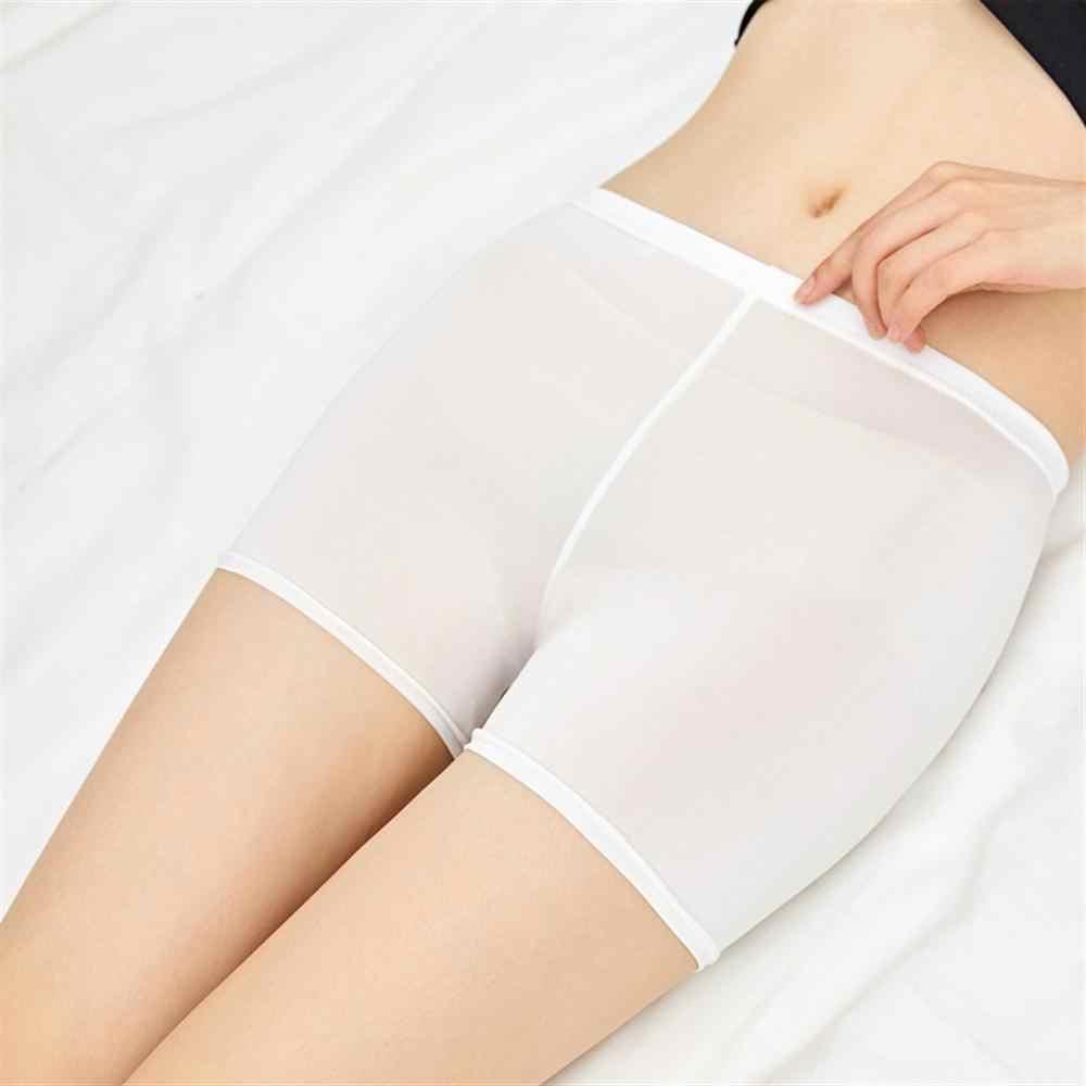 Damskie spodnie ochronne cienkie anty-lekkie koronki bez śladu duże rozmiary szorty Feitong kobiety bielizna ochronna wysokiej jakości krótkie spodnie