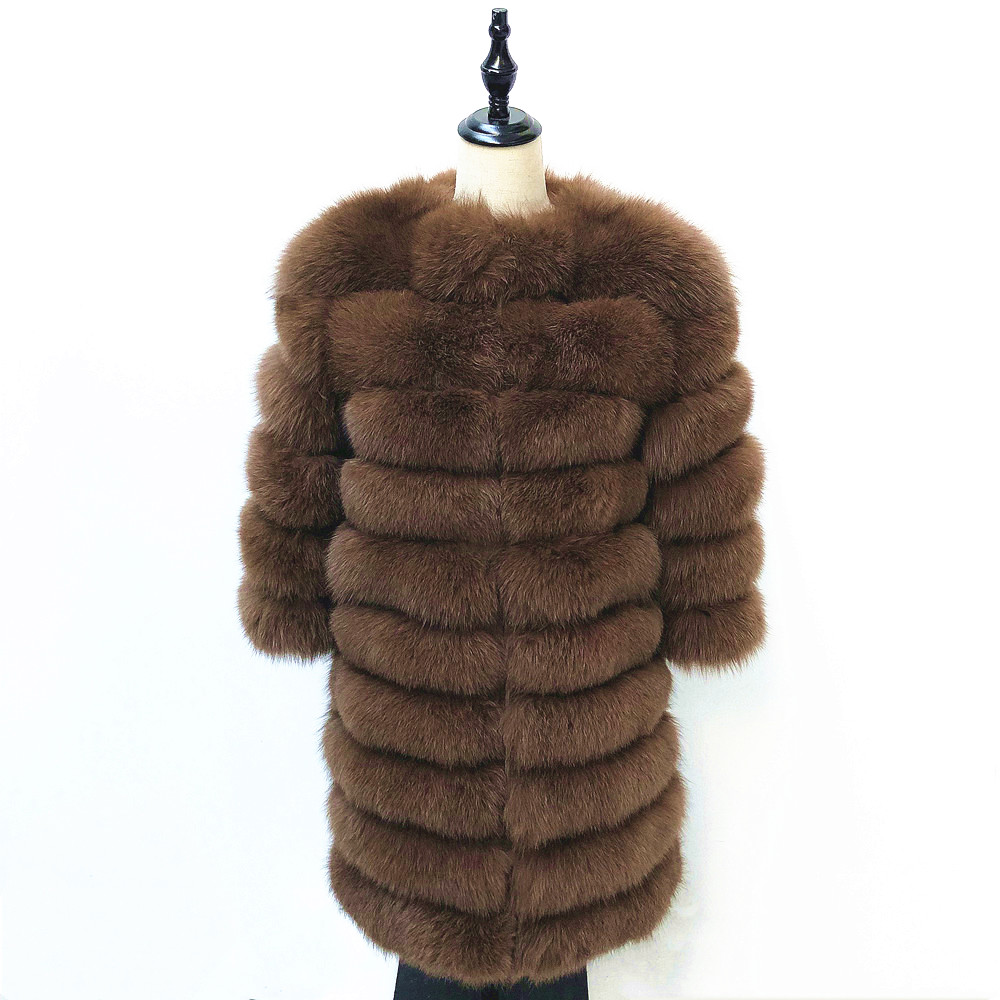 Natural Real Fox Fur Coat Winter Womens Tops And Blouses The New Fashion