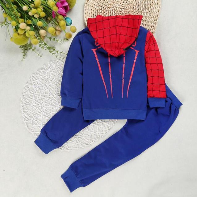 children costume boys clothing sets- Spiderman hoodies and sweatshirt  4