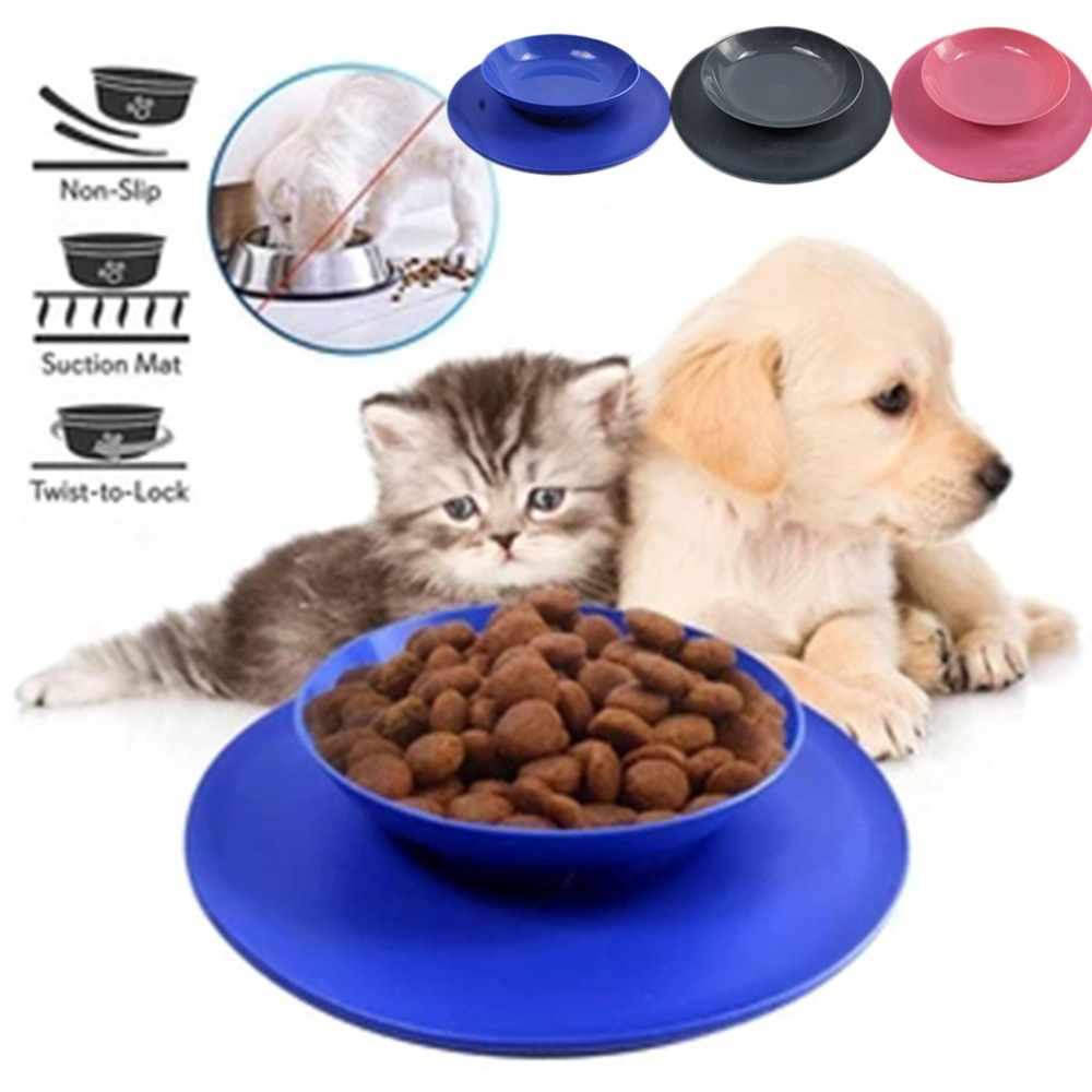 Silicone suction bowl mat non-slip pet bowl non-slip collapsible dog bowl mat and sucker feet silicone food caps 30D6 (1)