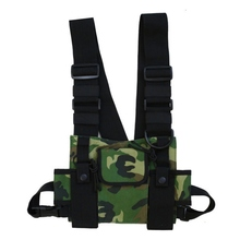 1PC Unisex Chest Rig Bag Multi-pocket Vest Hip Hop Streetwear Functional Tactical Harness Chest Rig Pack Adjustable Waist Bags цена