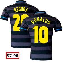 1997 1998 RETRO SOCCER JERSEY AWAY RONALDO RECOBA FOOTBALL SHIRTS IN STOCK