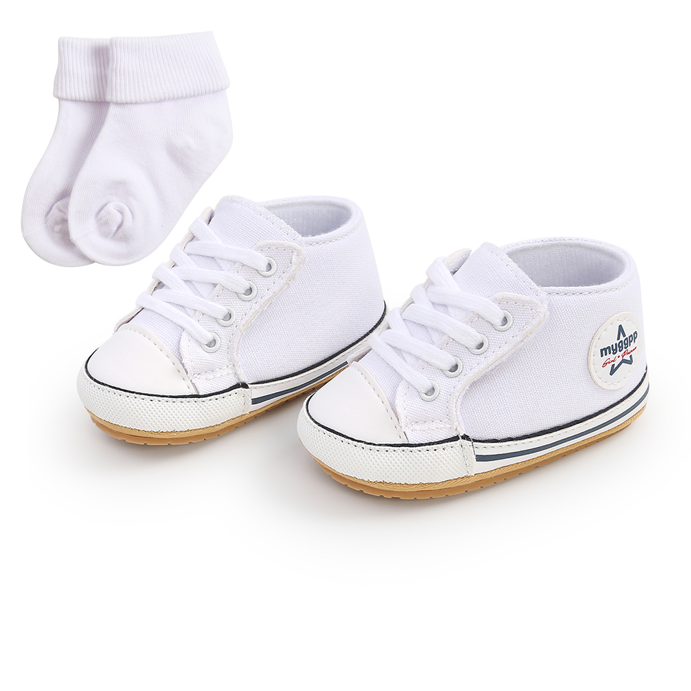 2021 New Classic Baby Canvas Shoes Toddlers Rubber Sole Moccasins Anti-slip Infant First Walkers Boys Girls Newborn Crib Shoes 2