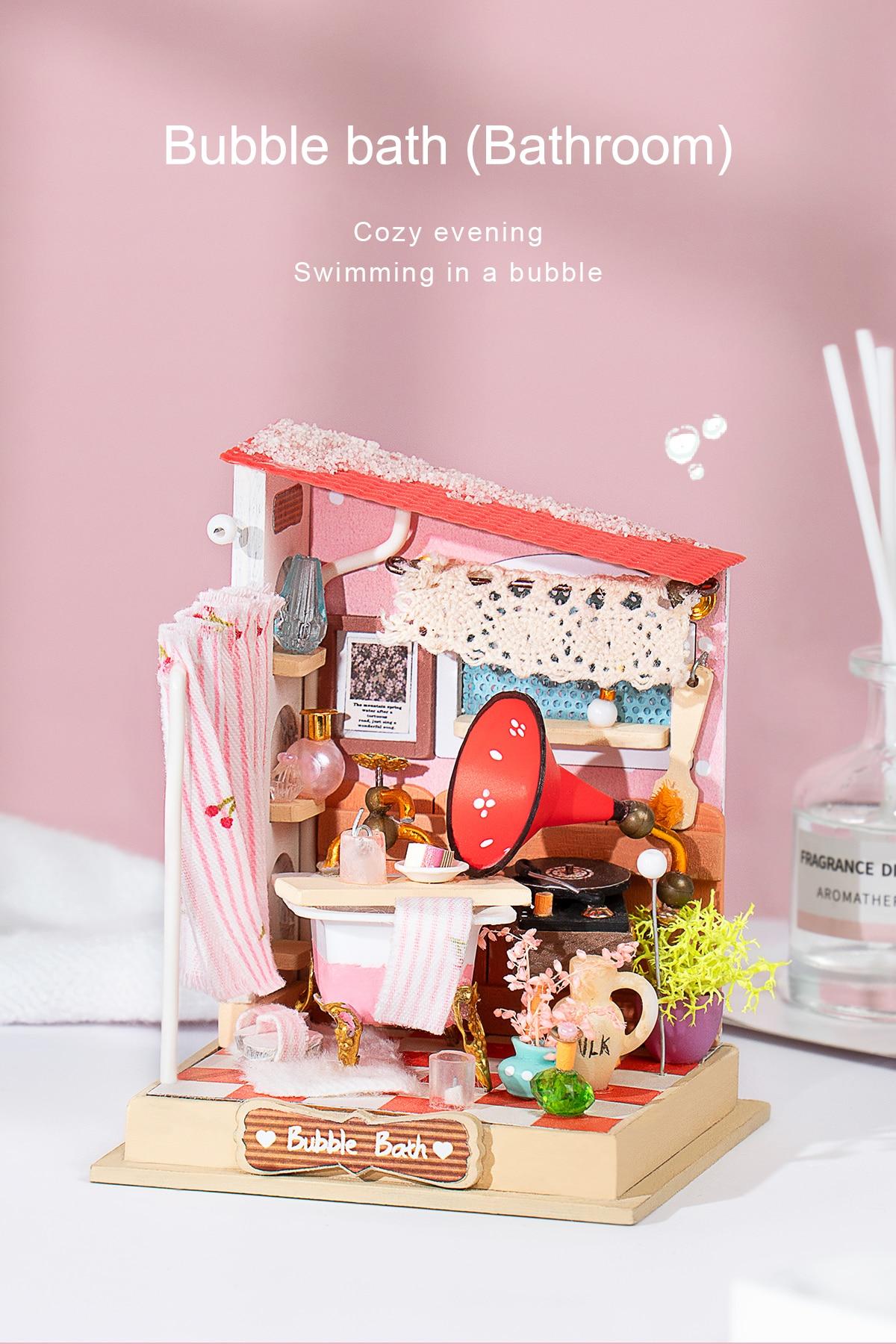 Rolife DIY Miniature Dollhouse - Bubble bath (Bathroom) DS018