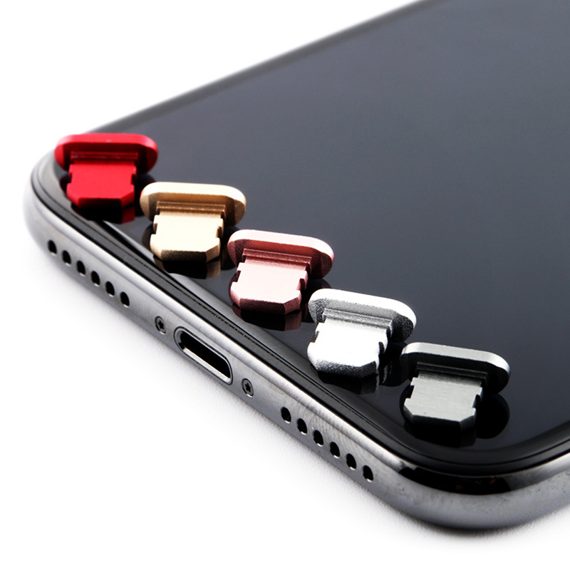 Металлическая Пылезащитная заглушка для iPhone 8 7 6 6S Plus, мини Пылезащитная заглушка для iPhone 5 5s SE, аксессуары для телефонов