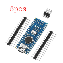 5PCS Für arduino Nano ATMEGA328P Mini USB Mit dem bootloader kompatibel Nano 3,0 controller für arduino CH340 USB fahrer 16Mhz