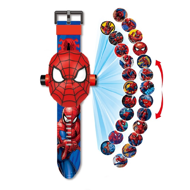 Princess Spiderman Kids Watches Projection Cartoon Pattern Digital Child Watch For Boys Girls LED Display Clock Relogio DropShip