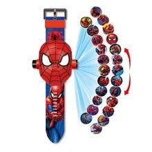 Princess Spiderman Kids Watches Projection Cartoon Pattern D