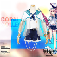 Games Arknights Ansel casual holiday swimwear cosplay costume