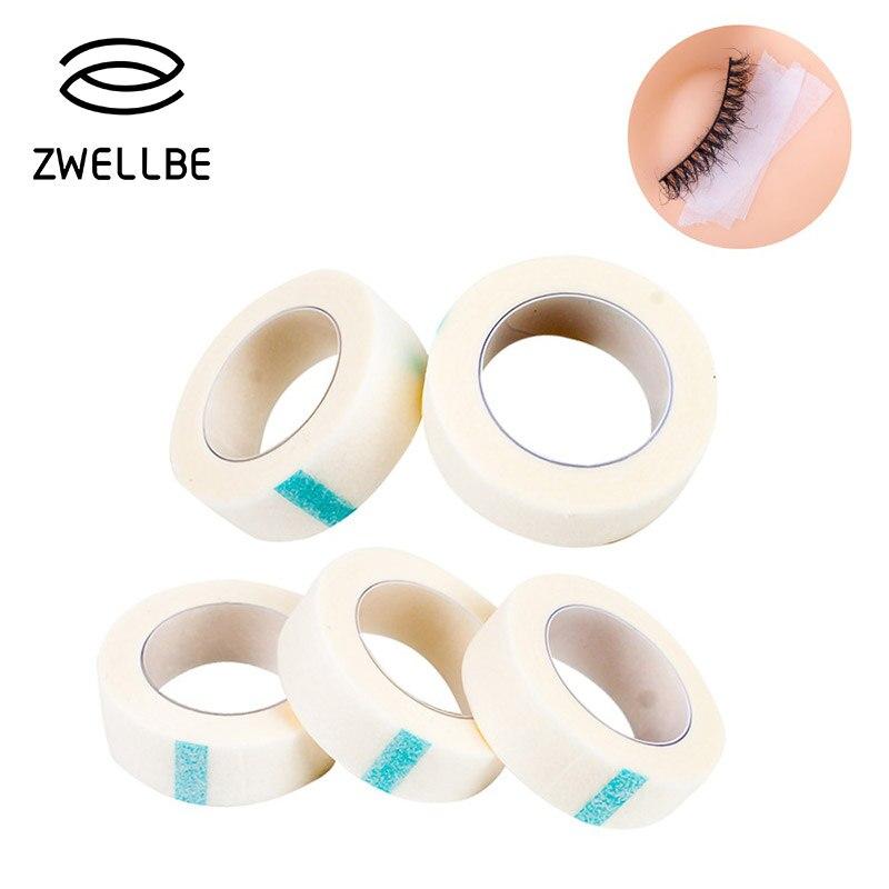 Zwellbe 1/3/5 шт/Лот волокно для наращивание ресниц Бесплатная подушечки для глаз белый лента кругов под глазами колодки Бумага для подвесных нак...