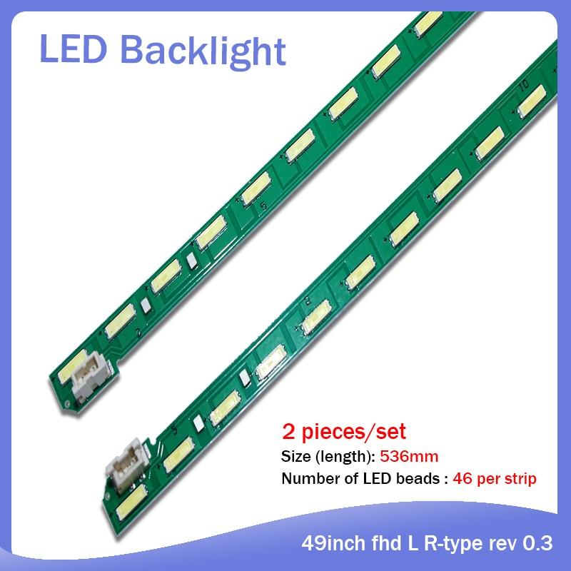 2 Pieces/set LED Backlight Strip 46 Lamp For LG 49inch Fhd L R-type Rev 0.3 PEU36H CCGIGAN01-0792A 0791A 49LF5400 MAK63267301