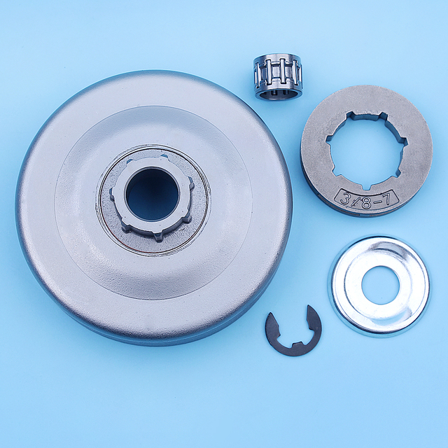 """3/8"""" Clutch Drum Rim Sprocket Kit For Stihl MS261 MS260 MS240 026 024 MS 260 240 Chainsaw Small 7 Spline 19mm Spare Parts"""