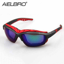 AIELBRO 2019 Outdoor Sports Sun Glasses Cycling Mens MTB Motorcycle Sun