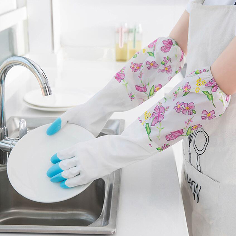Environmentally Reusable Silicone <font><b>Gloves</b></font> <font><b>Kitchen</b></font> <font><b>Cleaning</b></font> Dishwashing <font><b>Gloves</b></font> Heat Resistant <font><b>Kitchen</b></font> Accessories image