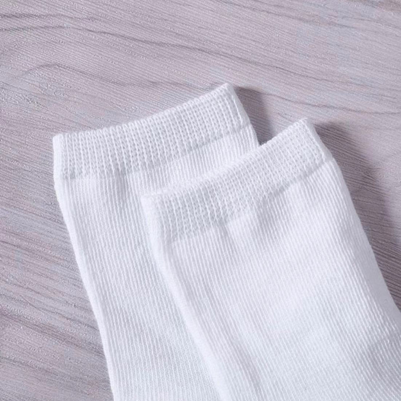 5Pairs Kids Pure White Sock Baby Boy Girl Solid Breathable Cotton Sport 5