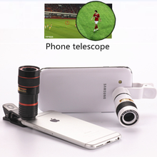 Universal 8X 12X Optical Zoom Smart Phone Telescope Camera Lens With Removable Clip Cell Phone Photograph Accessories(China)