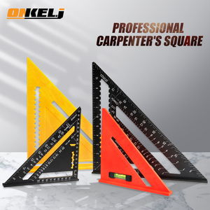 ONKEL.J 7/12inch Triangle Angle Protractor Aluminum Alloy Speed Square Measuring Ruler Carpenter Measuring Tools