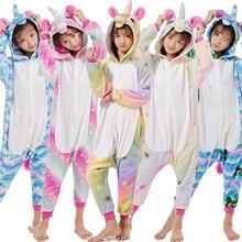 Kigurumi Children Unicorn Pajamas For Kids Jumspuit Animal Cartoon Blanket Sleepers Baby Costume Winter Boy Girl Licorne Onesie