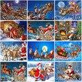 Санта-Клаус DIY 5D алмазная картина полная круглая дрель Рождественская Алмазная вышивка крестиком наборы Подарочная настенная живопись