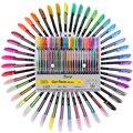 48 шт. набор гелевых ручек для заправки металлическими Пастельными неоновыми блестками эскиз цветная ручка для рисования школьные канцеляр...