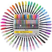 48pcs Penna Gel Set Ricariche Metallico Pastello Neon Glitter Disegno tavolo da disegno di Colore Cancelleria Della Scuola Della Penna Marcatore per I Regali per Bambini