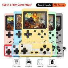 Przenośna przenośna konsola do gier 3 0 cala klasyczna Retro Mini kieszeń wbudowana 500 gier wideo odtwarzacz z jednym joystickiem prezenty dla dzieci tanie tanio Ipega CN (pochodzenie)
