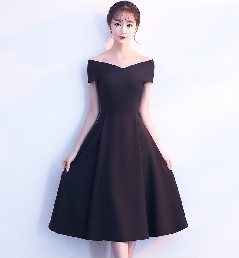 Solide noir femmes col en v robe de soirée a-ligne Polyester soirée Cheongsam mariage élégant Qipao longues robes rétro Vestido XS-XXL