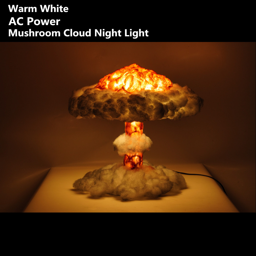 Dropship Nuclear Explosion Mushroom Cloud Night Light With Cotton Warm White Dimmable Lamp  Kid's Gifts Home Deor AC100-240V