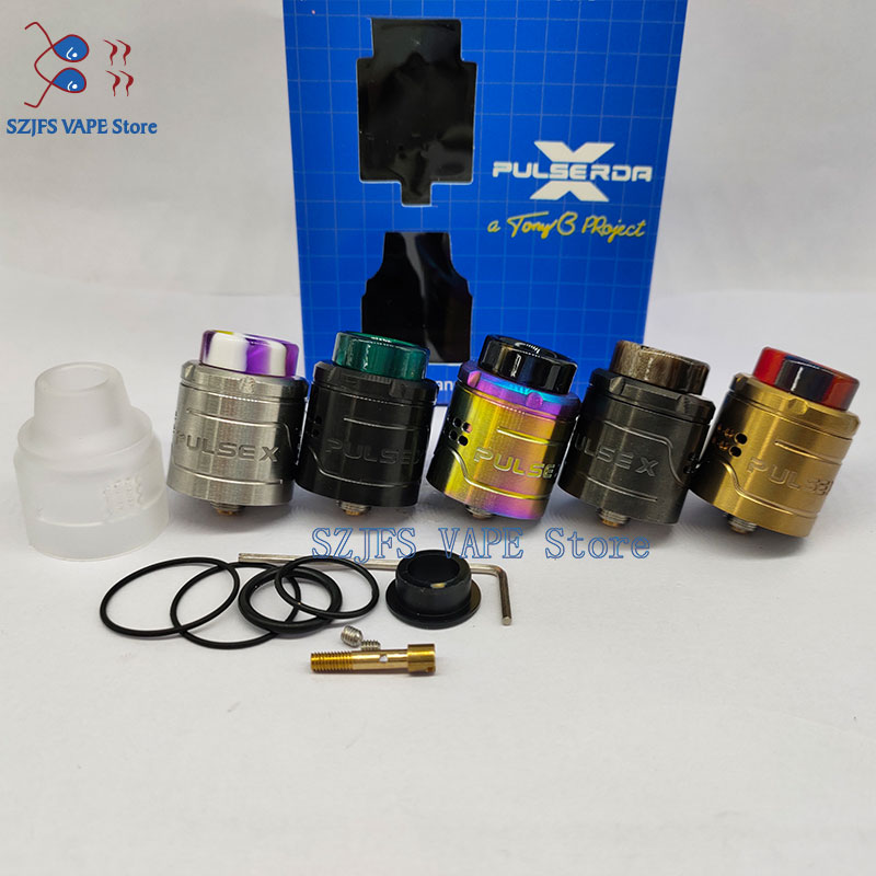 Pulse X BF RDA Replaceable Dripping Atomizers 24mm Vape Vapor Tank Vertical Build Deck For 510 Thread Box Mods Vs  C2MNT Rda Rta