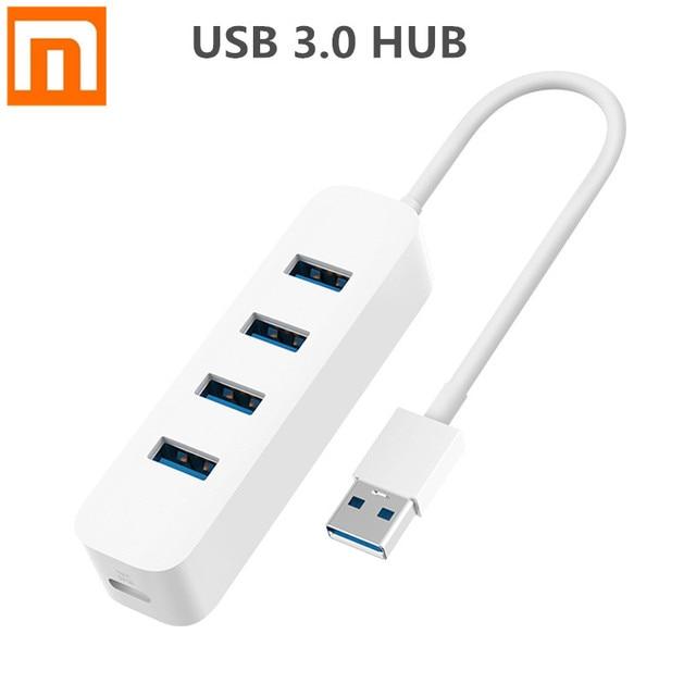 חדש Xiaomi USB3.0 רכזת מתאם 4 אוניברסלי יציאת 350 MB/s USB 3.0 Gigabit מתאם HUB תחנת עגינה עבור Tablet מחשב מחשב נייד