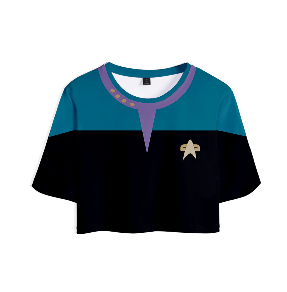 2019 Science fiction TV series Star Trek: Short Treks cosplay 3D Tops Girl Short t-shirt Women Sexy Sale Casual T shirt Clothes image