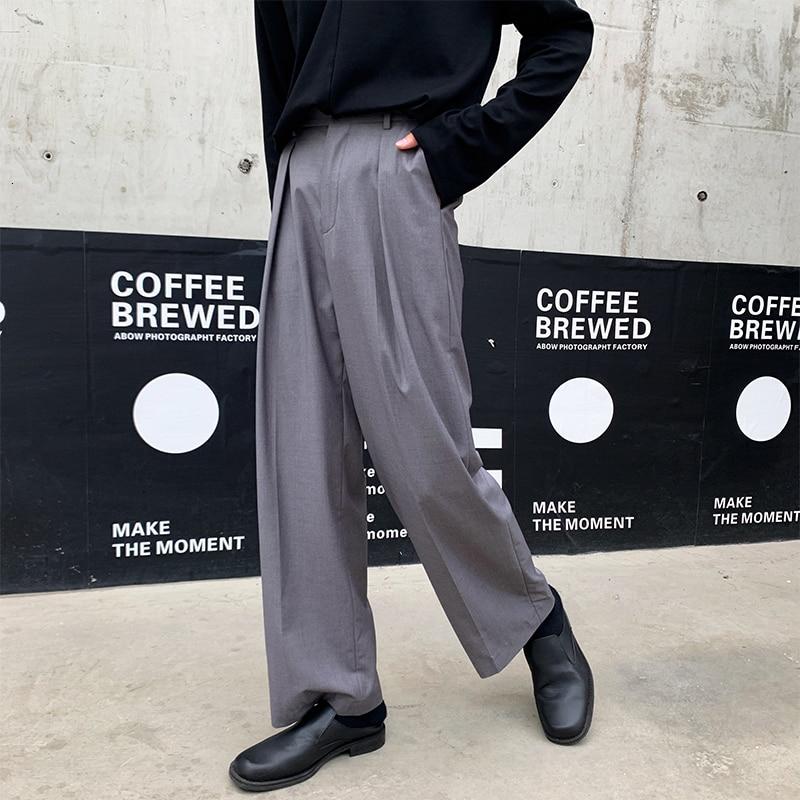 Autumn New Dress Pants Men's Fashion Solid Color Business Casual Trousers Man Streetwear Wild Loose Straight Suit Pants M-XL