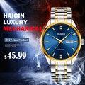 HAIQIN мужские часы лучший бренд класса люкс деловые стальные часы Мужские автоматические механические мужские наручные часы водонепроницае...
