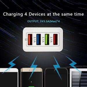 Image 4 - CinkeyPro 4 منافذ USB شاحن لسامسونج آيفون هواوي جدار الهاتف المحمول 5 فولت/3.5A محول عالمي شحن سريع