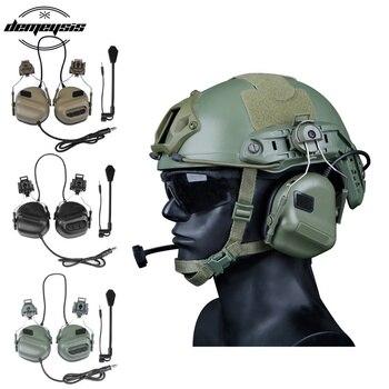 Высококачественные армейские тактические наушники для охоты, стрельбы, военный шлем, гарнитура для страйкбола, пейнтбола, наушники CS Wargame