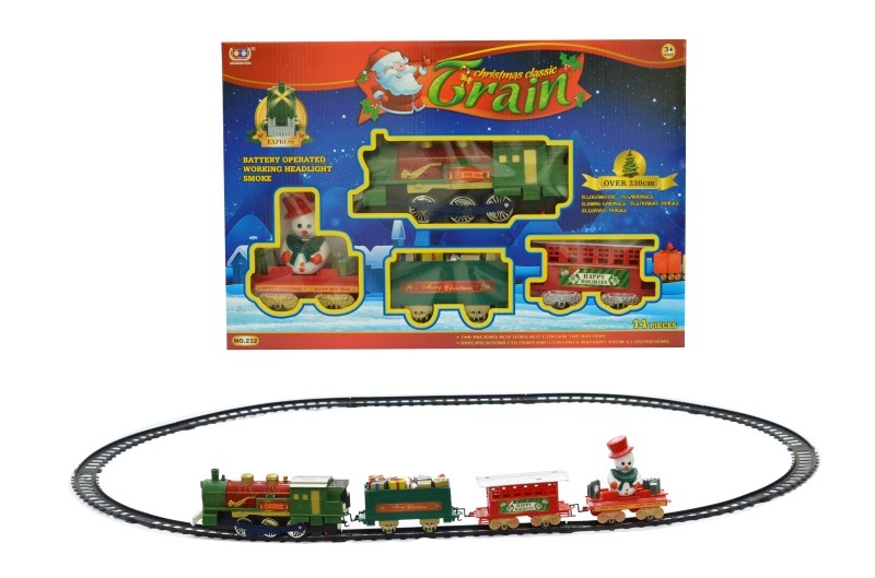 Electric Model Retro Rail Car With Light And Music Train Model Children'S Educational Toy Boy Christmas Gift