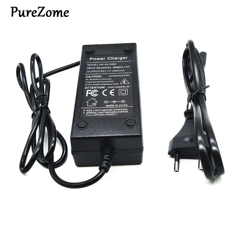 36V Battery Charger Output <font><b>42V</b></font> 2A Charger Input 100-240 VAC Lithium Li-ion Charger For 10S 36V Electric Bike image