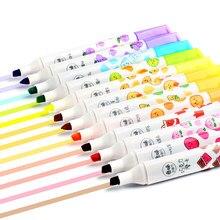 Ensemble de stylos surligneurs parfumés 6 couleurs assorties, pointes épaisses pour étudiants, pour la maison et le bureau, stylo d'écriture, fournitures de bureau