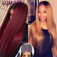 Бразильские прямые волосы, блонд, парик для черных Для женщин эффектом деграде (переход от темного к Синтетические волосы на кружеве парики ...