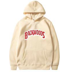 2020 la filetage manchette sweats em streetwear backwoods suor em capuche hommes modo automne hiver hip hop pull em capuche