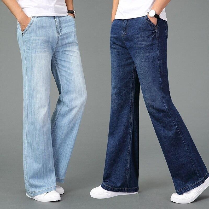 Bell Bottom Jeans 60s 70s Vintage Flared Denim Pants Retro Wide Leg Trousers Slim Fit For Men 923-375