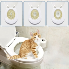Pet Cat Toilet Training Kit Kitty Potty Train System Step By Tray Supplies Trainer